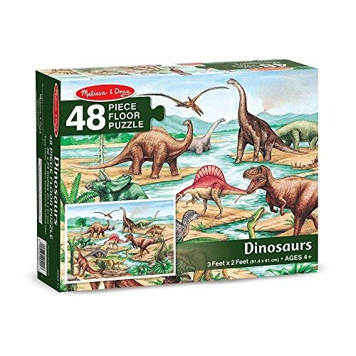 恐龙拼图,48 片, 2' x 3'