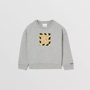 BurberryDeer Print Cotton Sweatshirt