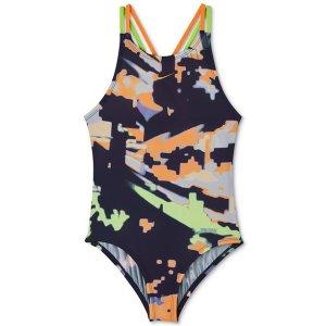 4bed866a83892 NikeBig Girls 1-Pc. Glitch Spiderback Swimsuit. $27.60 $46.00. Nike Big ...