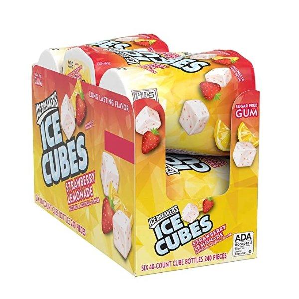 Ice Cubes 草莓柠檬口香糖 3.24oz 6杯
