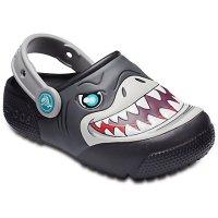 Crocs 儿童鲨鱼闪灯鞋