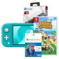 Nintendo Switch Lite+动森+$20礼卡+贴膜