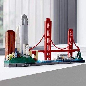 低至$31.99 金门大桥降价上新:LEGO Architecture 建筑系列拼插玩具特卖