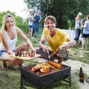 折后仅€18.89 小烧烤整起来Gifort 便携式木炭烧烤炉热卖 夏日烧烤必备