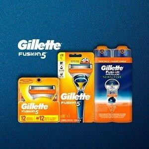 低至3.9折 + 免费店内提货Walmart 精选Gillette 剃须刀、刀片套装特惠