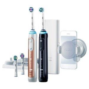 $279(原价$559)Oral-B Genius 9000 智能电动牙刷2支套装(黑色+玫瑰金色)