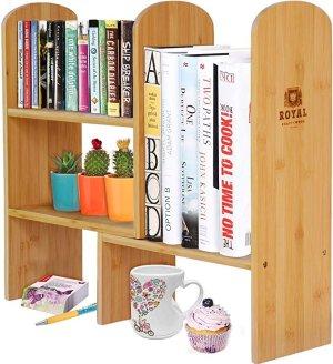 Royal Craft Wood Expandable Natural Bamboo Desk Organizer Accessory