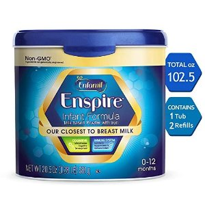 Enfamil35% off + extra 5% offEnspire Infant Formula - Our Closest to Breast Milk - Reusable Powder Tub & Refills, 102.5 oz