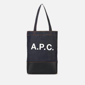 A.P.C.拼色托特包
