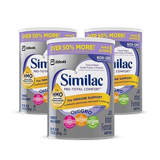 Pro-Total Comfort 非转基因易消化吸收婴儿奶粉0-12个月,3罐
