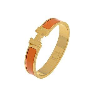 Hermes二手单品金橘H手环