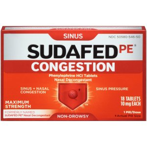 Sudafed Pe Congestion, 18 Count
