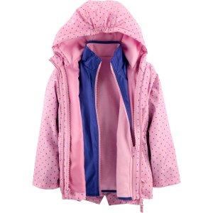 Oshkosh女童、大童4合1外套