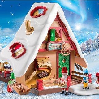满$50享7.5折 模具真的可以烤饼干Playmobil 圣诞主题热卖 可爱姜饼屋编织甜蜜美梦