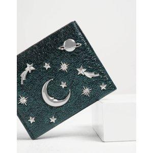 Charles & KeithGreen Galaxy Embellished Metallic Cardholder | CHARLES & KEITH US