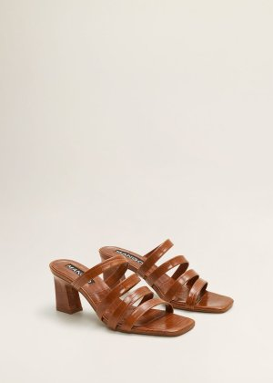 Leather straps sandals -  Women | Mango USA