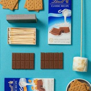 买3送1或买5送2Lindt 精选巧克力板促销 National S'mores Day