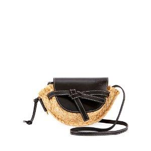 LoeweGate Mini Raffia Shoulder Bag