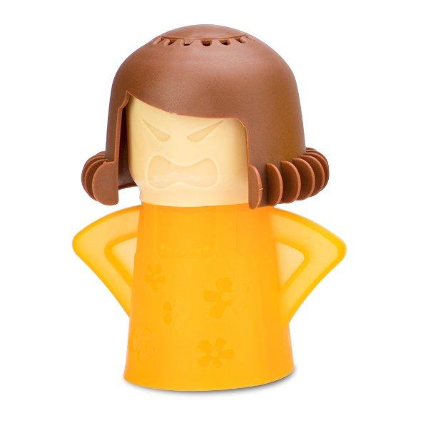黄衣褐发老妈 蒸汽清洁器