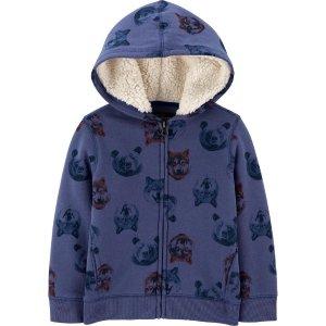 Oshkosh男小童熊&狼图案内容绒绒外衣