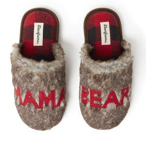 DearfoamsWomen's Furry Mama Bear Scuff Slipper