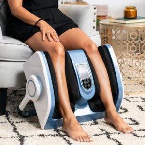 Air Compression Shiatsu Calf & Foot Therapeutic Massager w/ Heat, Rollers