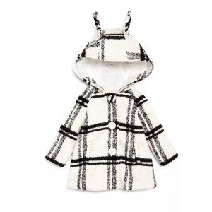 低至5.5折+额外8折最后一天:儿童外套清仓热卖 收封面款萌萌兔耳朵大衣