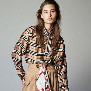 低至5折 €224收经典格纹围巾Burberry 美衣美包折扣来袭 英伦经典不可或缺