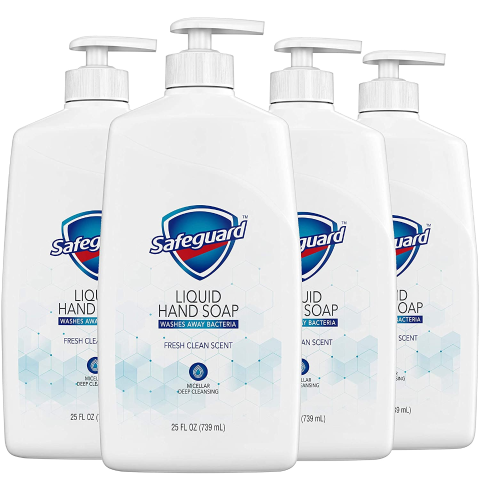 $15.88 for Pack of 4 + FSSafeguard Liquid Hand Soap, Fresh Clean Scent, 25 Oz