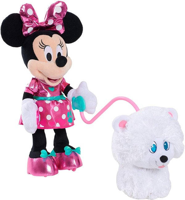 可爱米妮和宠物狗 毛绒玩具