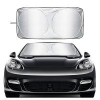 Erasior 汽车前挡风玻璃可折叠遮阳板 标准尺寸59*31