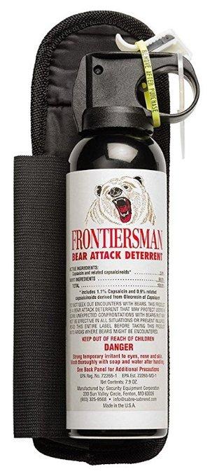 FRONTIERSMAN 驱熊喷雾+皮带套,7.9 Oz