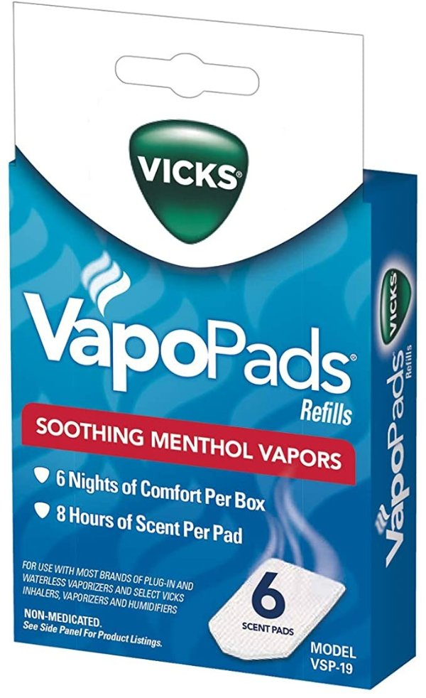 VapoPads 舒缓非药物鼻腔蒸气片