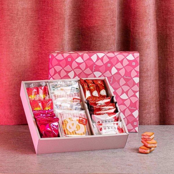 福冈豪华礼盒装的口味:明太子+草莓(25片,9种口味)