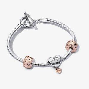 Pandora母亲节爱心手链