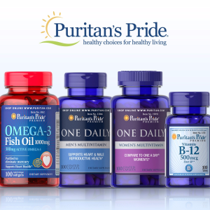 Buy 1 Get 2 Free + Up to 25% offPuritan's Pride Vitamins & Supplements