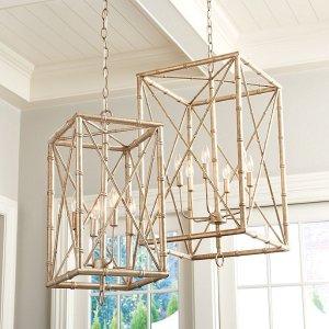 Bamboo Rectangular 吊灯
