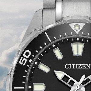 黑五价:Citizen 超多款男女腕表一日特卖 光动能款$70