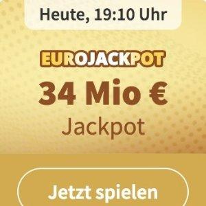 周五开奖 奖金累计3400万欧元EUROJACKPOT 3注只要€2 单车秒变摩托 财富自由在此一搏