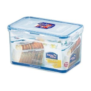 Lock U0026 Lock Airtight Rectangular Tall Food Storage Container 64.25 Oz