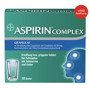 10包装€6.35 一包起效ASPIRIN 阿司匹林冲剂 止痛、消炎、退热 感冒鼻塞和疼痛