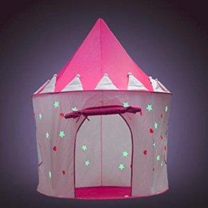 $14.99 (原价$49.99)Fox Print Princess 可折叠夜光帐篷 适用于户内/外