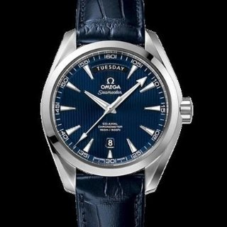 EXTRA $520 OFFOMEGA Aqua Terra Blue Dial Blue Leather Men's Watch 231.13.42.22.03.001
