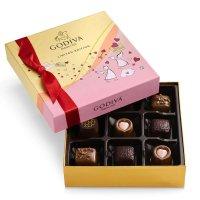 Godiva 情人节主题巧克力礼盒 9颗装