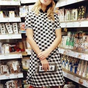 Maison Kitsune仅剩最后1件!小狐狸格子Polo连衣裙