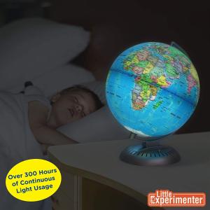 $29.99(原价$59.99)闪购:Little Experimenter Illuminated World Globe 发光地球仪