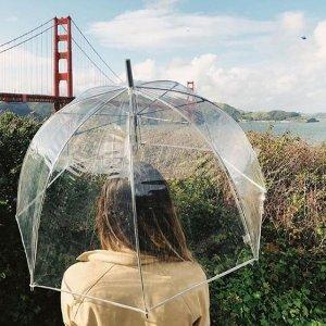 7折 $14收泡泡伞最后一天:Totes 精美雨伞春季特卖 好价收网红透明泡泡伞