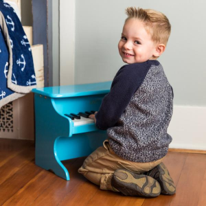 As low as $33.99 + Free ShippingEnding Soon: Kids 25-Key Wooden Learn-to-Play Mini Piano w/ Key Note Stickers, Music Book