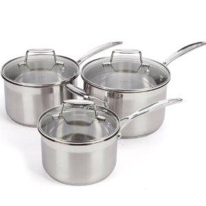 $120 (原价$315)Scanpan 优质锅具3件套 均匀受热