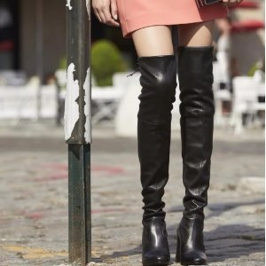 5cc880f43dc Stuart Weitzman Highland Leather Over-The-Knee Boots - Dealmoon